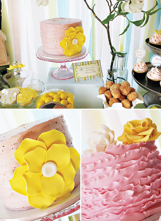 Pink and Yellow Spring Baby Shower