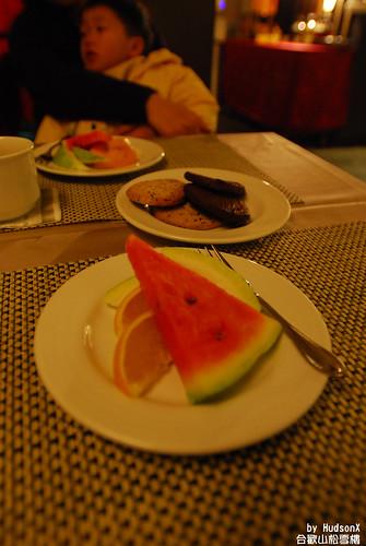 飯後甜點-水果和餅乾