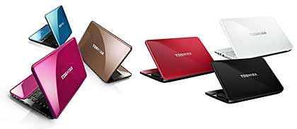 Toshiba's new line of Satellite notebooks - M800, L800 and C800 Series.