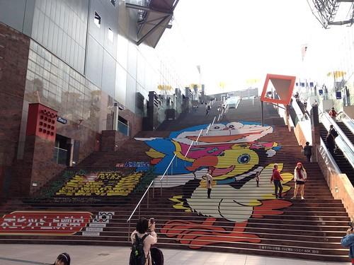 京都駅 ドラえもん 階段