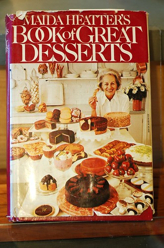 My old copy of Maida Heatter's Book of Great Desserts by Eve Fox, Garden of Eating blog, copyright 2012