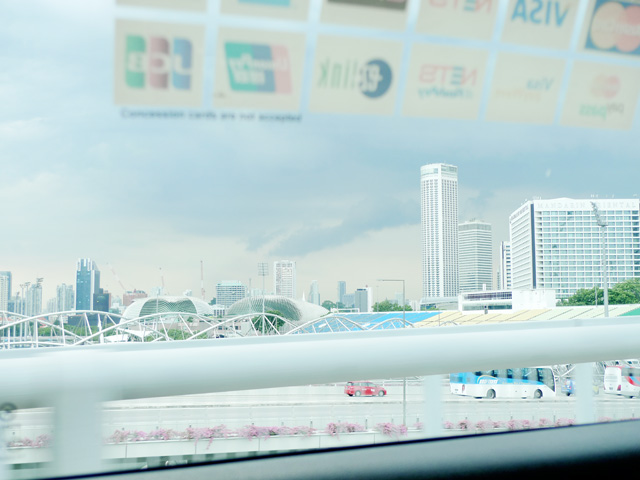singapore view from taxi