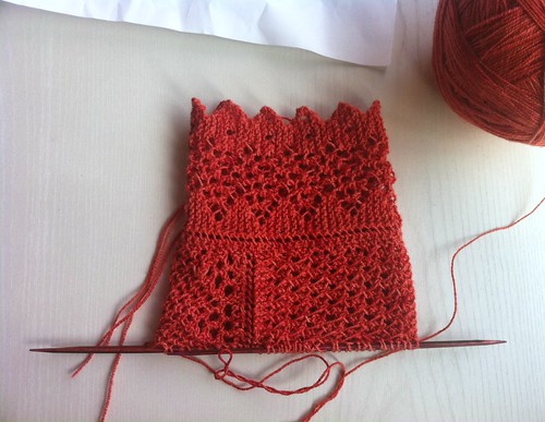 Madder stocking in progress