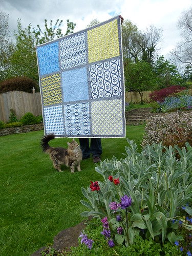 Giant 9 Patch quilt for siblings together