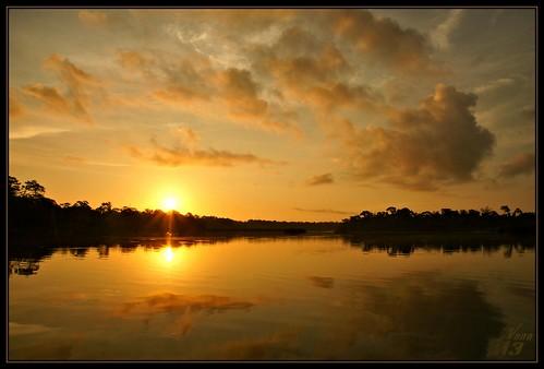reflection nature water clouds sunrise golden texas explore pasadena canoeing paddling armandbayou wanam3 exploremay172012