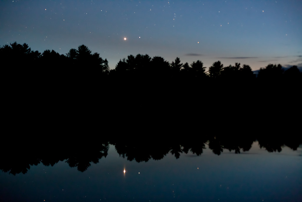 Mew Lake and the night sky