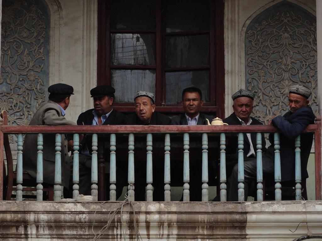 Casa de tè a Kashgar (Xinjiang, Xina)