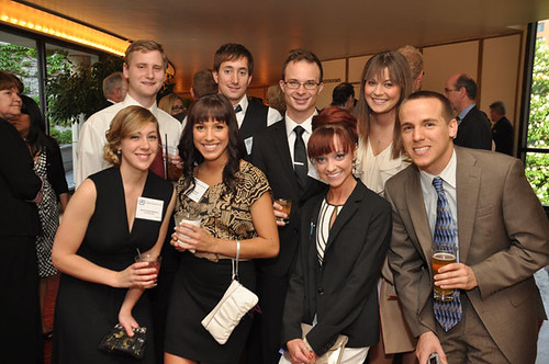 UW-Milwaukee Students at Gridiron Awards Dinner May 18, 2012