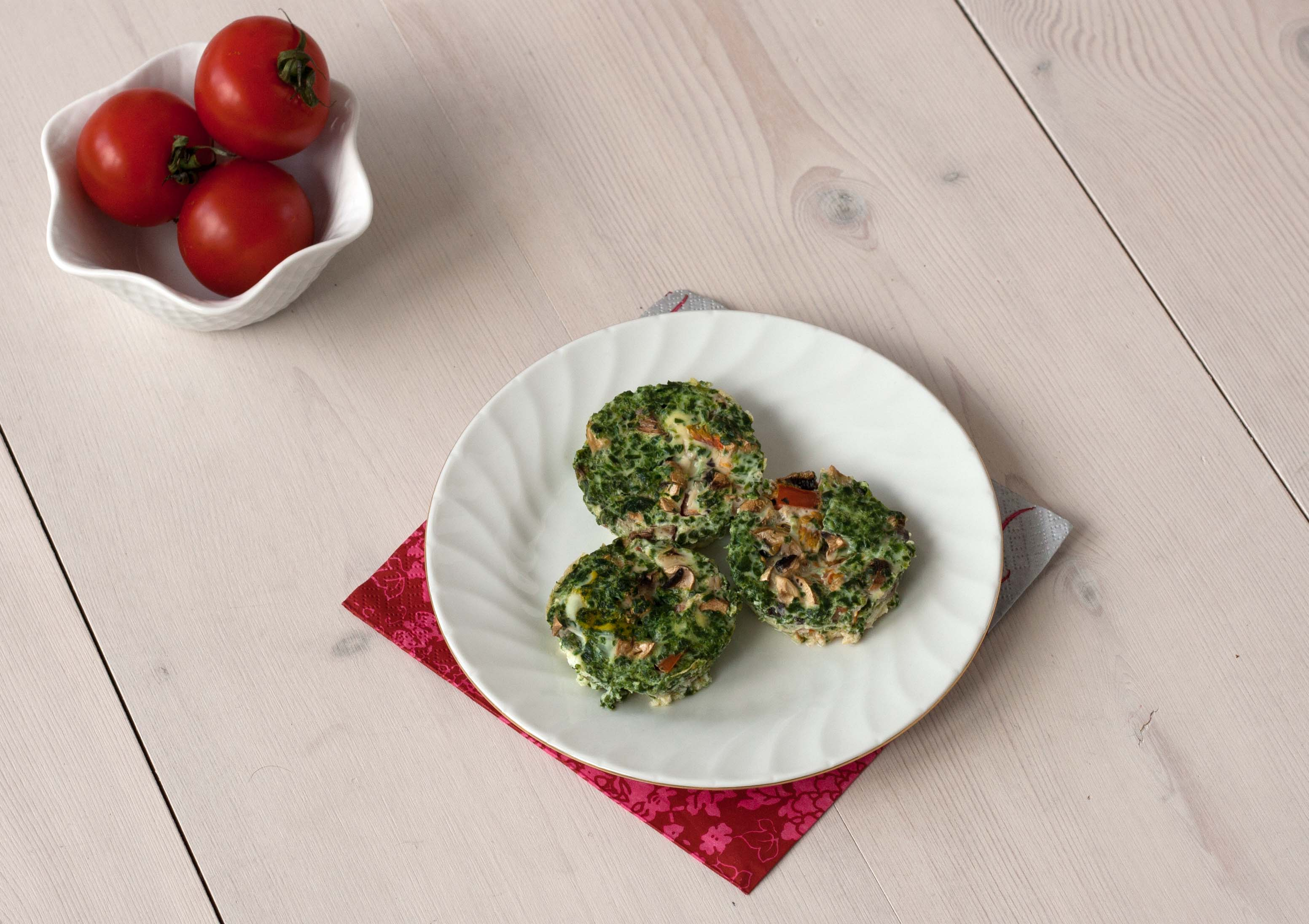 Mini æggemuffins med lækre grøntsager
