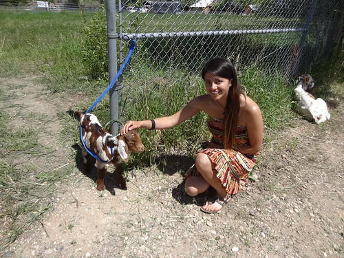 brenda with the baby goat