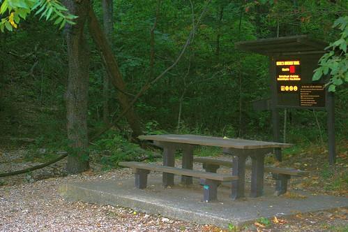 usa signs landscapes humor parks trails missouri northamerica wallpapers ozarks forests picnictables stateparks waymarks