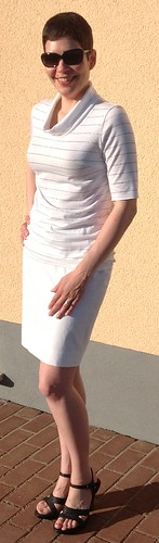 White skirt and top - view 3