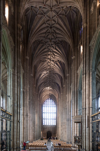 The nave at Canterbury Cathedral