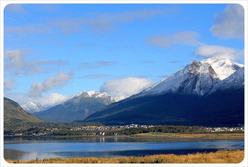Ushuaia with mountains tierra del fuego argentina