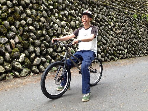Toru with his OPENER bike