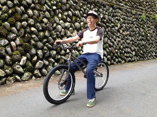 Toru with his OPENER bike