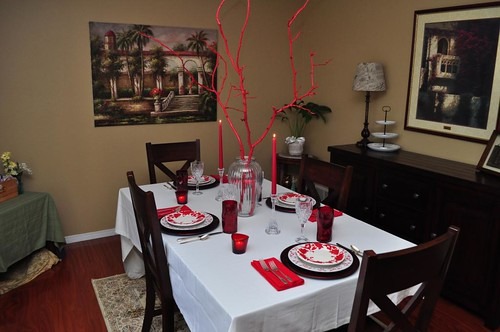 8th Anniversary Table in Red from Kathe With an E.