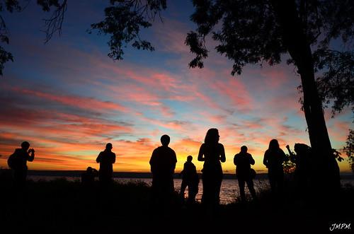 trip travel friends sky people lake tree silhouette sunrise landscape paraguay aregua