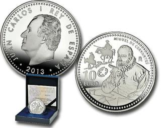 Spain 10 Euro Cervantes coin