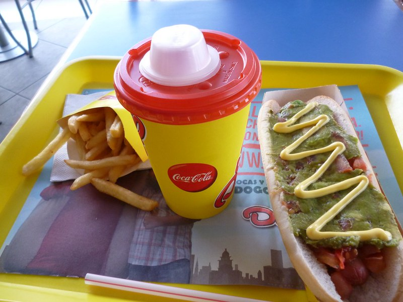 Doggi's hotdog set meal