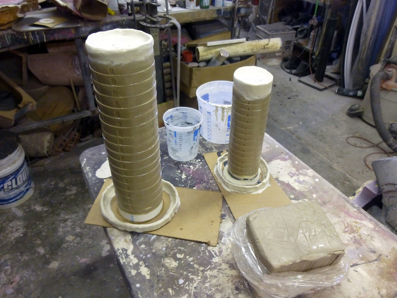 Knee and Elbow Sculpts Prepped for Molding