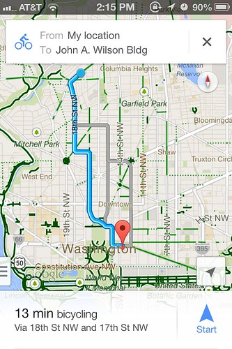 Google Maps for iPhone, now with biking directions