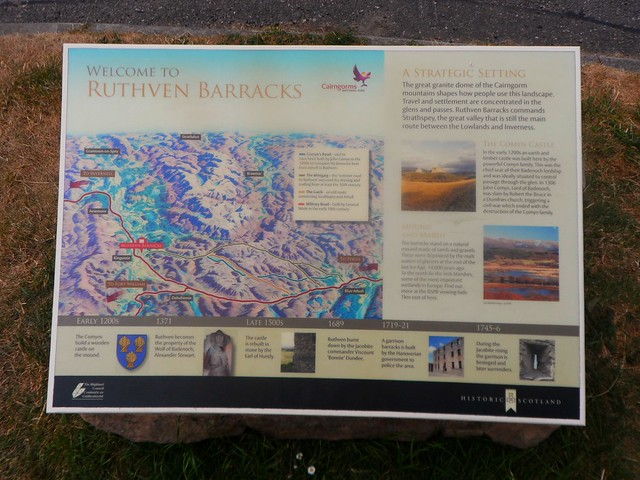 Ruthven Barracks in the Scottish Highlands