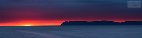 blue sunset red sea sky cloud mountain black water beautiful yellow dark grey iceland stormy calm stunning isafjordur isafjardardjup