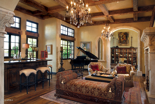 Paradise Valley Old World interior style decor room