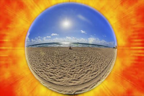 ocean color beach photoshop sunrise alone florida