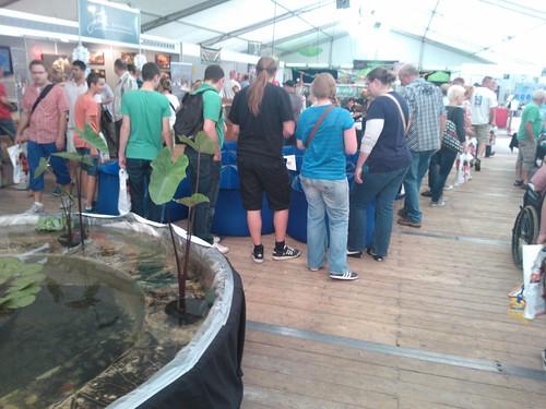 De Goldfish Exhibition trok veel aandacht met de vele verschillende type goudvissen.