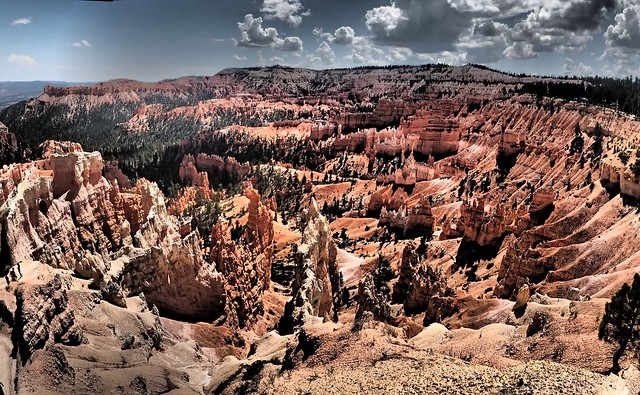 Panorama Hoodoo and Rock Formations - Bryce Canyon Utah