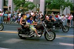 1991JuneSFPride_Kodak5095Gold100-2_0004 Parade always starts with Women's Motorcycle Contingent