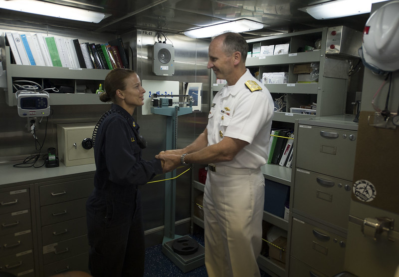 Independent Dutry Corpsman First to Earn ESWS Pin