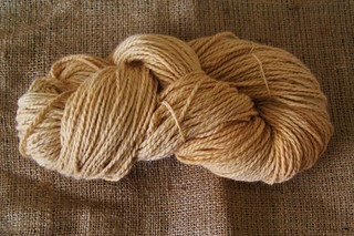 Angora/merino yarn dyed with rooibos tea