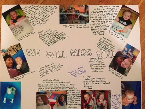 We Will Miss You Poster From Nana's Kids