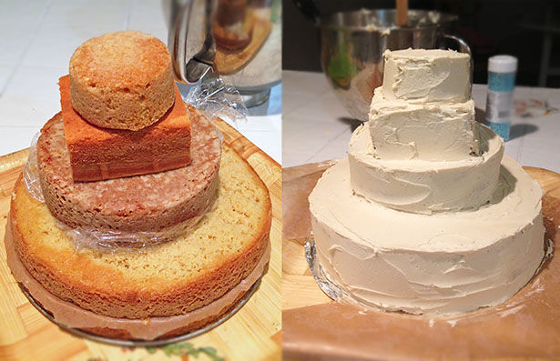 sandcastle cake frosting