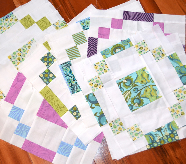 Stonehenge block quilt - in progress
