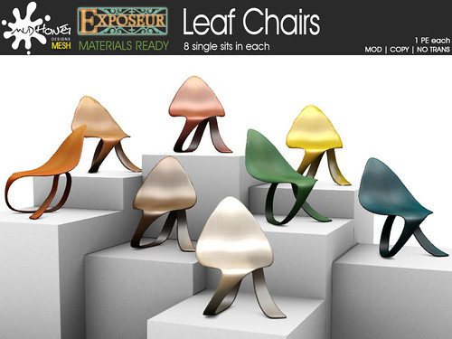 mudhoney exposeur leaf chairs
