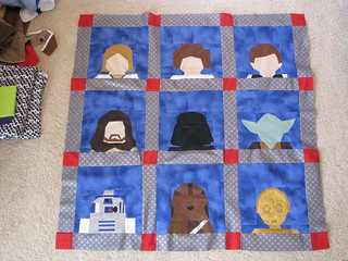 Star Wars Quilt Top
