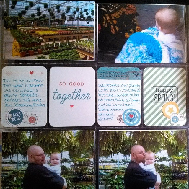 Atty's first trip to Wallace's to Celebrate Spring scrapbook layout