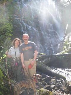Jayne, Stefan & Lucinda at University Falls, Tillamook State Forest, Oregon