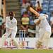Wkpr Denesh Ramdin sees Jonathan Trott drive through the off-side by westindiescricket