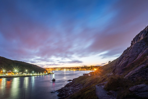 city longexposure sunset sky cloud mountain canada fall rock port newfoundland landscape evening seaside twilight nikon downtown cityscape cloudy harbour dusk hill stjohns shore narrow seaport nfld atlanticcanada d600 stjohnsharbour newfoundlandandlabrador downtownstjohns nikond600