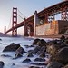 Marshall Beach, Fort Point, and the Golden Gate Bridge by Andrew Louie Photography