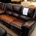 Brown leatherette set