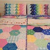 Matching quilts and shams, ALL DONE! I am really happy with these. It was a fun project and Izzy says if she were one of the girls getting these, she would like them very much. :)
