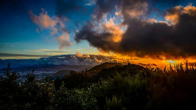Ocaso en Santa Cruz de Tenerife