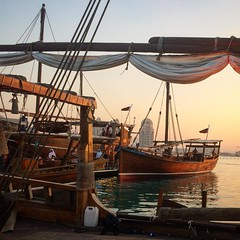 Dusk at the dhow festival at Katara last week. #latergram #iphoneographytr #dhowfestival #dhow