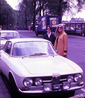 Netherlands   -   Amsterdam  -    Barbara (John's Alfa Romeo 1750 GT Veloce with a 2000 cc engine for racing) & Denise Dotsey    -   May 1970
